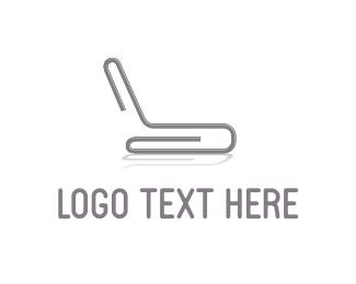 Printing - Grey Paper Clip logo design