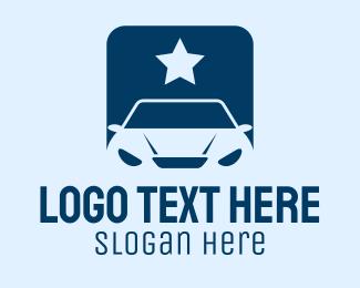 Sedan - Star Car App logo design