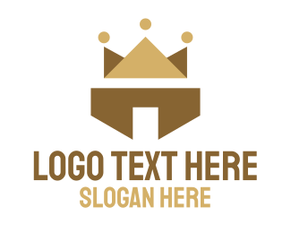 Crown - Abstract Polygon Crown logo design