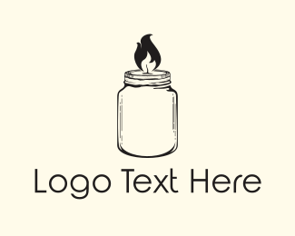 Old School - Jar Candle logo design