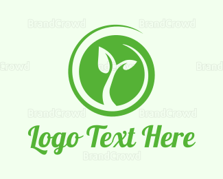 Sprout - Eco Circle Leaves logo design