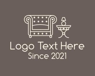 Living Room - Elegant Living Room Fixture logo design