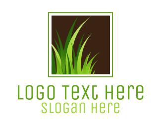 Grass - Green Grass Lawn Turf logo design