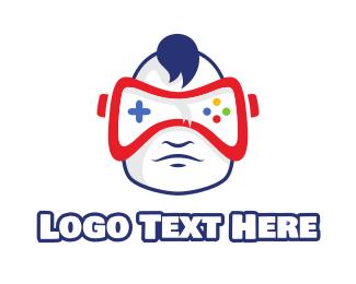 Vr - Baby VR Gaming logo design