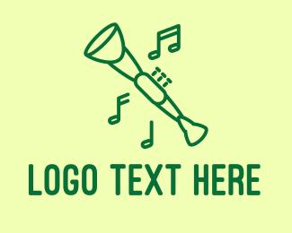 Ska Band - Green Jazz Oboe logo design