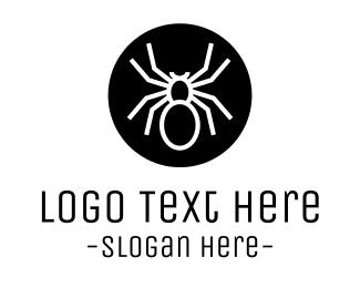 Pest - Spider Circle logo design