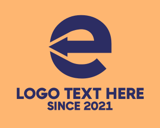 Logistics - Logistics Company Letter E  logo design