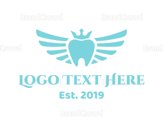 Dentistry - Royal Winged Tooth logo design