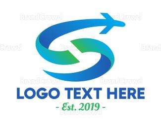 Wanderlust - Flying Letter S logo design