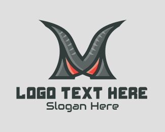 Call Of Duty - Monster Clan Letter M logo design