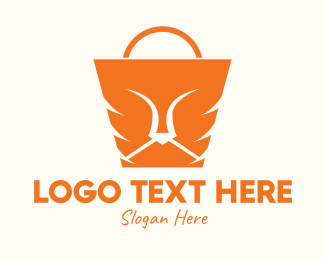 Handbag - Orange Lion Bag logo design