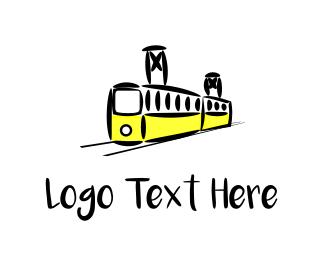 Metro - Yellow Tram logo design