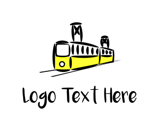 Trolley - Yellow Tram logo design