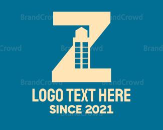 Condominium - Purple Letter Z Tower logo design