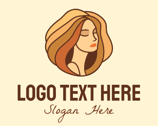 Skincare - Beautiful Woman Hair logo design