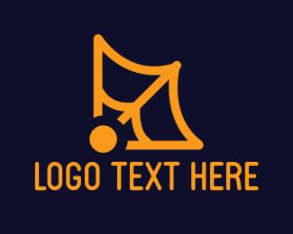 Spooky - Orange Web logo design