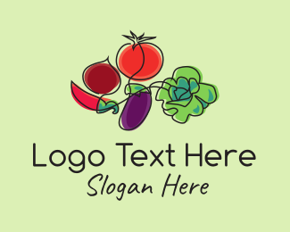 Nutrition - Organic Vegetables Food logo design