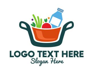 Diet - Fresh Ingredients Pot logo design