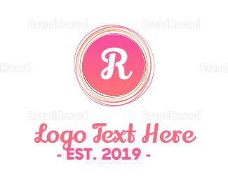 Infant - Pinkish Rounded Line Lettermark logo design