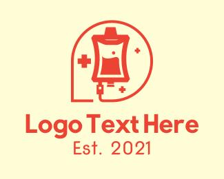 Red Blood Bag Logo