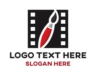 Paintbrush - Art Film logo design