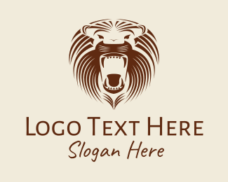 Ethnic Group - Angry Lion Roar  logo design