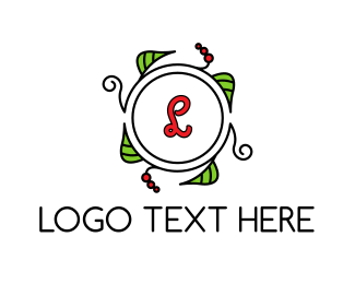 Wreath - Fresh Wreath Lettermark  logo design
