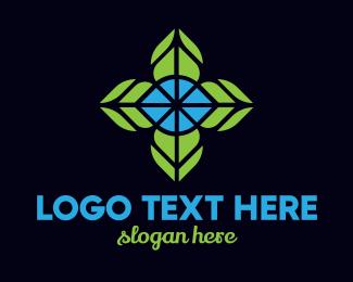 Bouquet - Mosaic Flower logo design