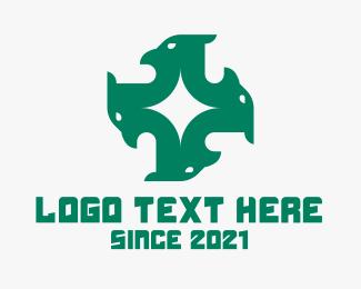Company - Green Eagle Head logo design