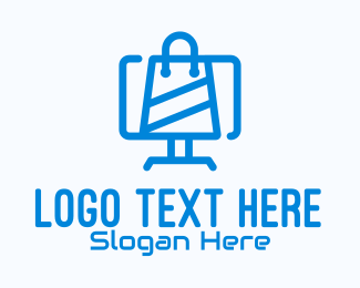 Shop - Blue Computer Shop logo design