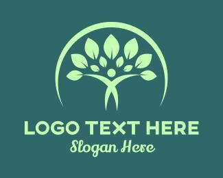 Crescent - Green Elegant Nature  logo design