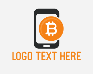 Wallet - Mobile Bitcoin logo design
