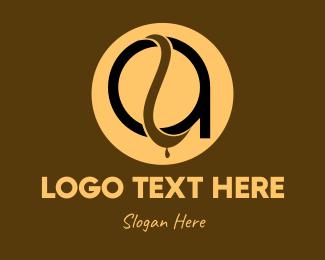 Coffee Bean - Coffee Letter A logo design