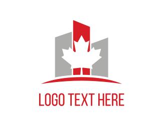 Rental - Maple & Buildings logo design