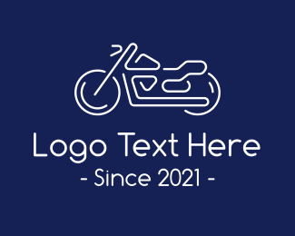 Bike - White Motorcycle Bike logo design