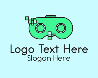 Vintage - Digital Gamepad logo design