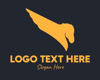 Pegasus - Golden Elegant Pegasus logo design