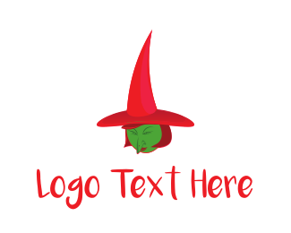 Evil - Green & Red Witch logo design
