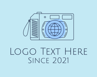 Photography - Blue International Photographer  logo design