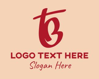Bt - Pink T & B Monogram  logo design