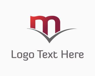 Verify - Red Letter M logo design