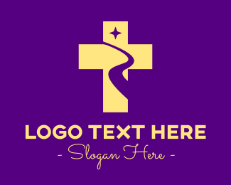 River - Religious Cross River logo design