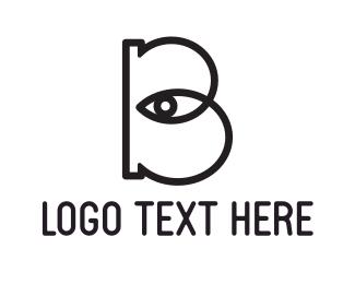 Barcelona - Eye Letter B logo design
