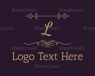 Letter - Luxury Gold Letter logo design