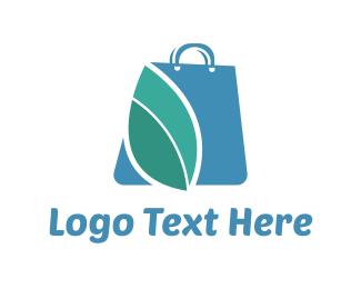 Supermarket - Blue Bag logo design