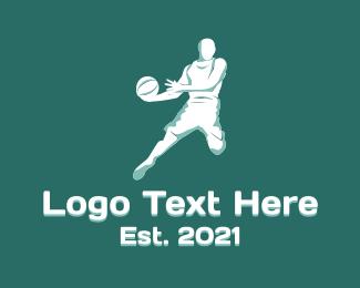 Athlete - Basketball Player Athlete logo design