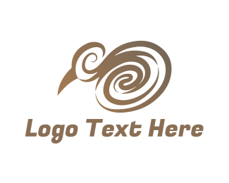 Gold Bird - Elegant Kiwi logo design
