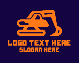 Digging - Excavator Machine logo design