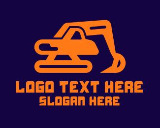 Machinery - Excavator Digger Excavation logo design