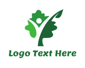 Person - Green Tree Person logo design